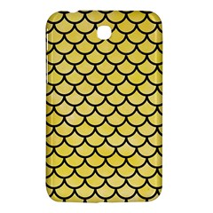 Scales1 Black Marble & Yellow Watercolor Samsung Galaxy Tab 3 (7 ) P3200 Hardshell Case