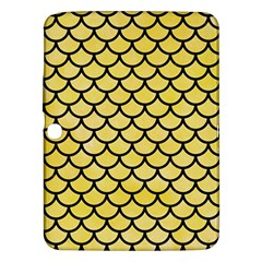 Scales1 Black Marble & Yellow Watercolor Samsung Galaxy Tab 3 (10 1 ) P5200 Hardshell Case