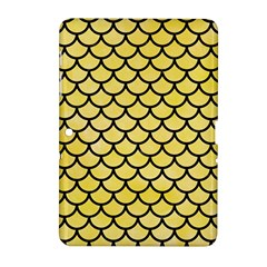 Scales1 Black Marble & Yellow Watercolor Samsung Galaxy Tab 2 (10 1 ) P5100 Hardshell Case