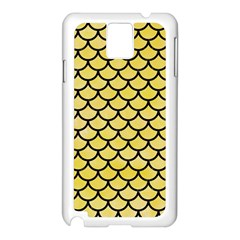 Scales1 Black Marble & Yellow Watercolor Samsung Galaxy Note 3 N9005 Case (white)