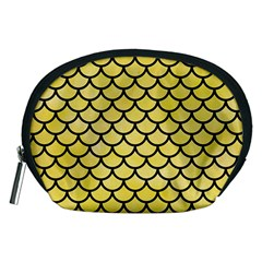 Scales1 Black Marble & Yellow Watercolor Accessory Pouches (medium)