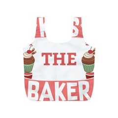 Kiss The Baker Full Print Recycle Bags (s)