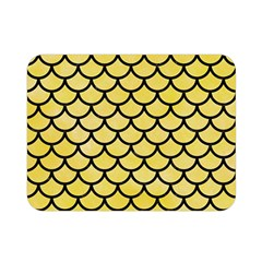 Scales1 Black Marble & Yellow Watercolor Double Sided Flano Blanket (mini)