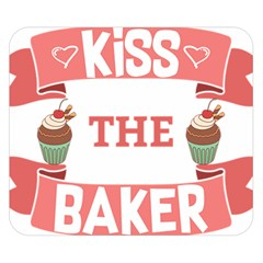Kiss The Baker Double Sided Flano Blanket (small)