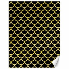 Scales1 Black Marble & Yellow Watercolor (r) Canvas 12  X 16