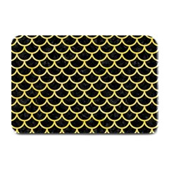 Scales1 Black Marble & Yellow Watercolor (r) Plate Mats