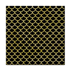 Scales1 Black Marble & Yellow Watercolor (r) Face Towel