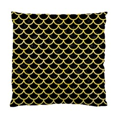 Scales1 Black Marble & Yellow Watercolor (r) Standard Cushion Case (two Sides)