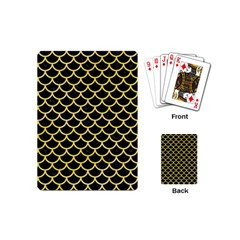 Scales1 Black Marble & Yellow Watercolor (r) Playing Cards (mini)