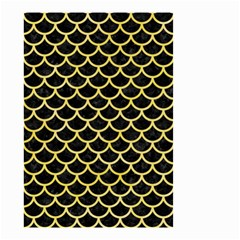 Scales1 Black Marble & Yellow Watercolor (r) Small Garden Flag (two Sides)