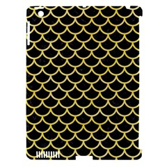 Scales1 Black Marble & Yellow Watercolor (r) Apple Ipad 3/4 Hardshell Case (compatible With Smart Cover)