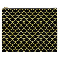 Scales1 Black Marble & Yellow Watercolor (r) Cosmetic Bag (xxxl)