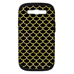 Scales1 Black Marble & Yellow Watercolor (r) Samsung Galaxy S Iii Hardshell Case (pc+silicone)