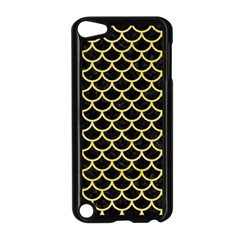 Scales1 Black Marble & Yellow Watercolor (r) Apple Ipod Touch 5 Case (black)