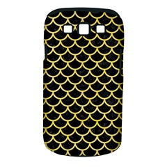 Scales1 Black Marble & Yellow Watercolor (r) Samsung Galaxy S Iii Classic Hardshell Case (pc+silicone)
