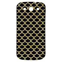 Scales1 Black Marble & Yellow Watercolor (r) Samsung Galaxy S3 S Iii Classic Hardshell Back Case