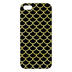 Scales1 Black Marble & Yellow Watercolor (r) Iphone 5s/ Se Premium Hardshell Case