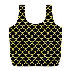 Scales1 Black Marble & Yellow Watercolor (r) Full Print Recycle Bags (l)