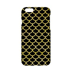 Scales1 Black Marble & Yellow Watercolor (r) Apple Iphone 6/6s Hardshell Case
