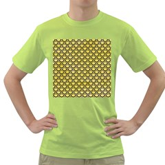 Scales2 Black Marble & Yellow Watercolor Green T Shirt