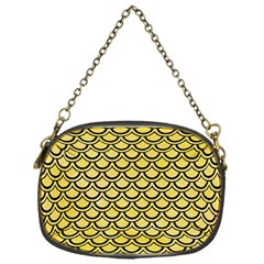 Scales2 Black Marble & Yellow Watercolor Chain Purses (one Side)