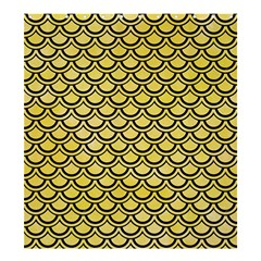 Scales2 Black Marble & Yellow Watercolor Shower Curtain 66  X 72  (large)