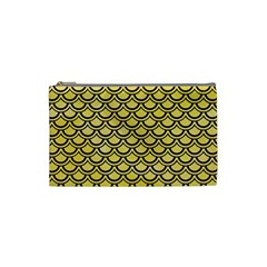 Scales2 Black Marble & Yellow Watercolor Cosmetic Bag (small)