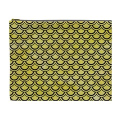 Scales2 Black Marble & Yellow Watercolor Cosmetic Bag (xl)
