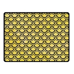 Scales2 Black Marble & Yellow Watercolor Fleece Blanket (small)