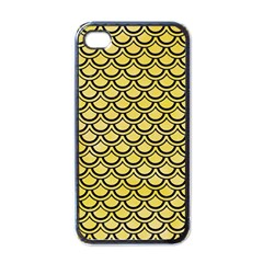 Scales2 Black Marble & Yellow Watercolor Apple Iphone 4 Case (black)