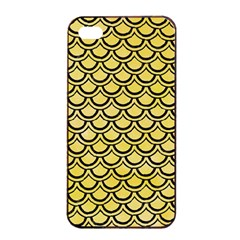 Scales2 Black Marble & Yellow Watercolor Apple Iphone 4/4s Seamless Case (black)