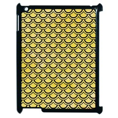 Scales2 Black Marble & Yellow Watercolor Apple Ipad 2 Case (black)