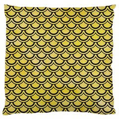 Scales2 Black Marble & Yellow Watercolor Large Cushion Case (one Side)