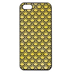 Scales2 Black Marble & Yellow Watercolor Apple Iphone 5 Seamless Case (black)