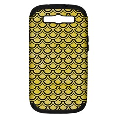 Scales2 Black Marble & Yellow Watercolor Samsung Galaxy S Iii Hardshell Case (pc+silicone)