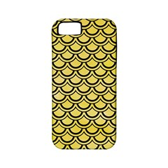 Scales2 Black Marble & Yellow Watercolor Apple Iphone 5 Classic Hardshell Case (pc+silicone)