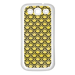 Scales2 Black Marble & Yellow Watercolor Samsung Galaxy S3 Back Case (white)