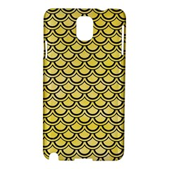 Scales2 Black Marble & Yellow Watercolor Samsung Galaxy Note 3 N9005 Hardshell Case