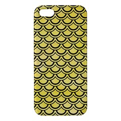 Scales2 Black Marble & Yellow Watercolor Iphone 5s/ Se Premium Hardshell Case