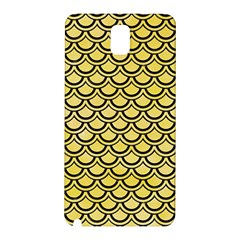 Scales2 Black Marble & Yellow Watercolor Samsung Galaxy Note 3 N9005 Hardshell Back Case