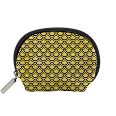 Scales2 Black Marble & Yellow Watercolor Accessory Pouches (small)