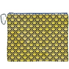 Scales2 Black Marble & Yellow Watercolor Canvas Cosmetic Bag (xxxl)