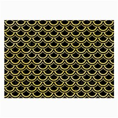 Scales2 Black Marble & Yellow Watercolor (r) Large Glasses Cloth