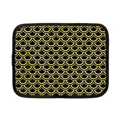 Scales2 Black Marble & Yellow Watercolor (r) Netbook Case (small)