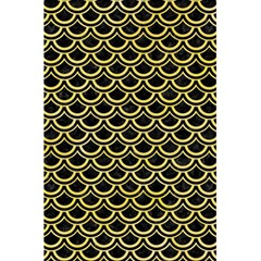 Scales2 Black Marble & Yellow Watercolor (r) 5 5  X 8 5  Notebooks