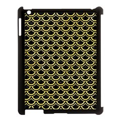 Scales2 Black Marble & Yellow Watercolor (r) Apple Ipad 3/4 Case (black)