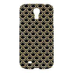 Scales2 Black Marble & Yellow Watercolor (r) Samsung Galaxy S4 I9500/i9505 Hardshell Case