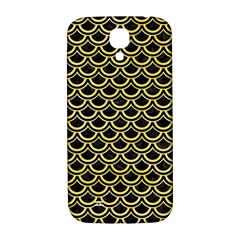 Scales2 Black Marble & Yellow Watercolor (r) Samsung Galaxy S4 I9500/i9505  Hardshell Back Case