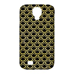 Scales2 Black Marble & Yellow Watercolor (r) Samsung Galaxy S4 Classic Hardshell Case (pc+silicone)