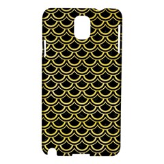 Scales2 Black Marble & Yellow Watercolor (r) Samsung Galaxy Note 3 N9005 Hardshell Case